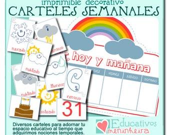 Colección de carteles semanales -español-