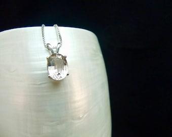 Unique Tea Topaz Sterling Silver Necklace