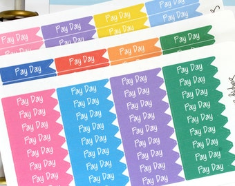 Pay Day Planner Stickers - Happy Planner - Erin Condren - Functional Stickers - Weekly Planner -