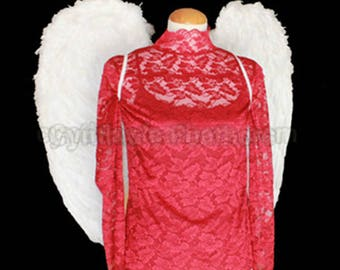 White Angel genuine turkey Feather wings WM2 XL, will fit most Adults