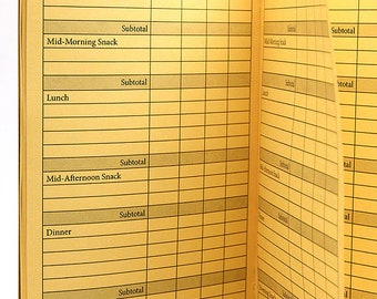 FOOD Journal Traveler's Notebook Insert  22 Colors - 8 Sizes