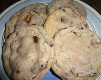Soft and Chewy Homemade Snickers Chocolate Chip Cookies (2 Dozen)