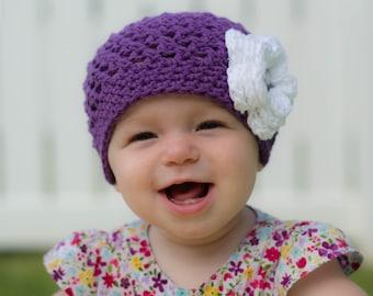 baby hat,girls winter hat, girls hat, baby girl hat,  crochet kids hat, crochet kids hat, newborn girl hat,  purple hat, girls winter hat