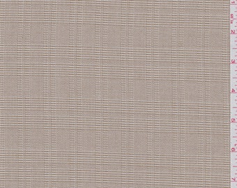 Dark Beige Glen Plaid Suiting, Fabric By The Yard