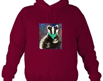 Stop the Cull badger hoody, animal liberation, animal rights