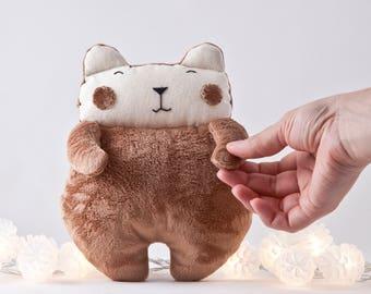 Fluffy Bear Toy, Nursery Decor Boy Rustic, Toddler Toys for Boys, Cute Newborn Gift, Baby Shower Gift, Stuffed Toy Kids Room Decor Ideas