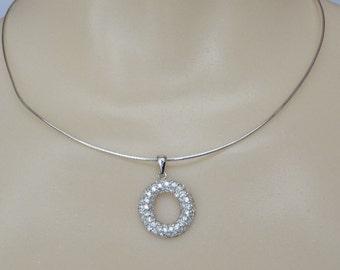 Sterling Silver Necklace CZ Eternal Love Pendant
