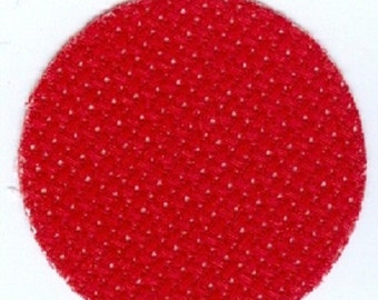 Aida, 18 count Bright Red Aida from Zweigart 55 x 50 cms, fat quarter for cross stitch, 55 x 25 cms, christmas red aida