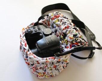 Camera case, t-shirt yarn camera case.