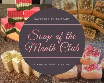 Monthly Soap Subscription | Subscription Box | Vegan | Cruelty Free | Seasonal | Bridesmaid Gift | Shower Gift | Hostess Gift | Bride Gift