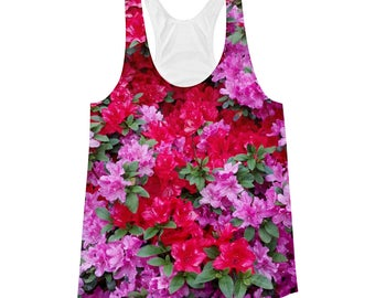 Flower covered tank top