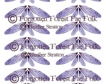 Purple double fairy wings
