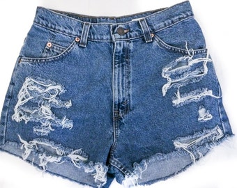Distressed High Waisted Cut off shorts/All Sizes/Jean Shorts/ALL BRANDS Levis, Guess, Lee, Riders, Wrangler..etc