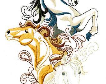 3 HORSE SKETCH - Machine Embroidery Design