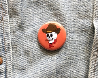Howdy, Cowboy button--pack of 2