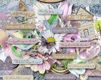 Digital Scrapbook, Elements Pack: Memories Of Home