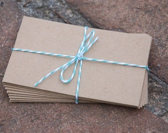 25 Kraft Coin Envelopes, brown bag kraft. Perfect for seed packets and wedding favors, letterpress, crafts, etc
