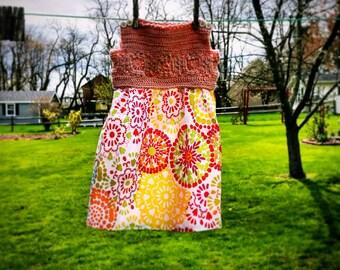 Hand crocheted summer shift