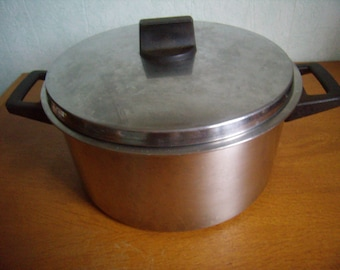 Stainless steel 18/10 Lidded pot, french vintage, Dutch oven