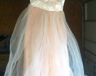 Sale-Beautiful Pink Vintage Prom Formal Dress 50s