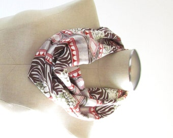 Tribal Print Scarf - Animal Print Scarf  - Tribal Scarf - SALE