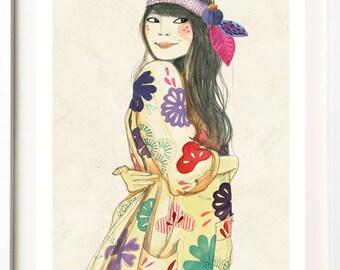 "A5 A4 Art print ""Natasha"" (song serie) (limited edition)"