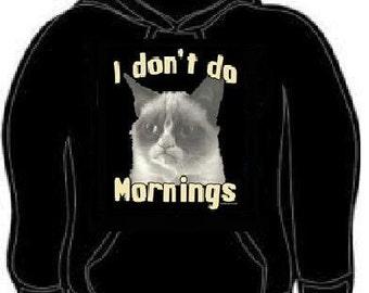 con capucha: no mañana gato sudaderas