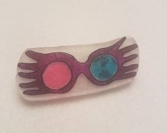 Luna Lovegood glasses inspired pin