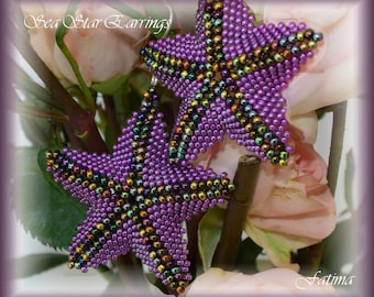 Sea Star Earrings -  TUTORIAL - all about the shape