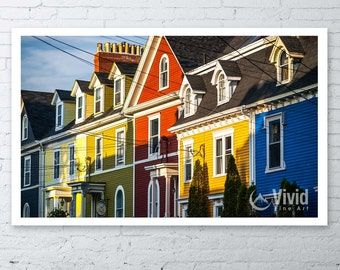 Architecture Photography, jelly bean house, colorful architecture, St Johns, fine art print, framed art, historic row house wall art picture