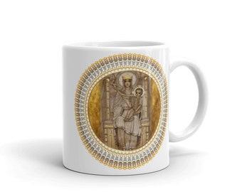 Our Lady of Walsingham - ceramic mug - religious gift idea - catholic gifts - Virgin Mary art - Virgin of Walsingham