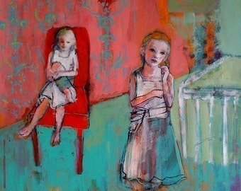 ACEO art reproduction - Sisters