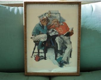 Norman Rockwell Lithograph on Canvas