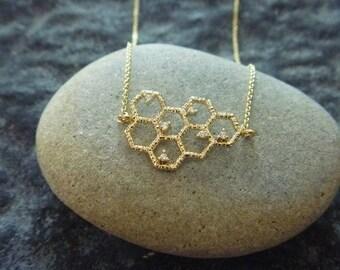 Necklace honey 16 k goldfilled