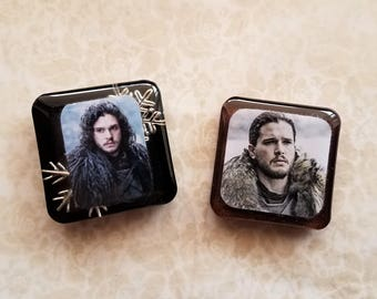 Jon Snow Game of thrones resin magnets