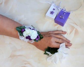 Wrist corsage, maid of honor, bridesmaid bracelet, flowergirl bracelet, bridesmaid gift, flower corsage, corsage ideas for bridesmaids,