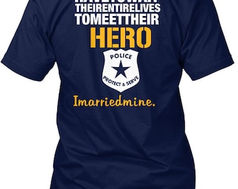 The Police Wife   Hanes Tagless Tee Tshirt