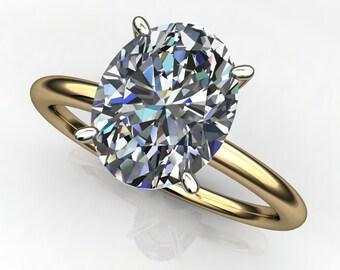 promise ring - 2 carat oval cut ZAYA moissanite engagement ring