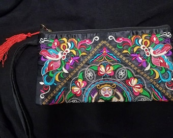 Hand Embroidered Clutch Bag