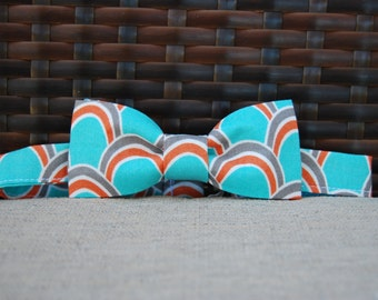 Teal and Orange bow tie