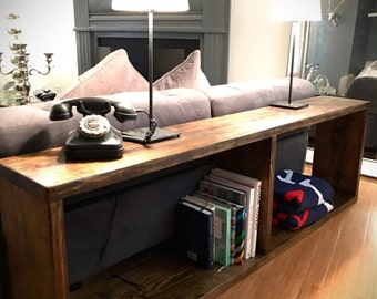 Oblong, Modern Rustic Sofa Table, Console Table, Entryway Table, Hallway table