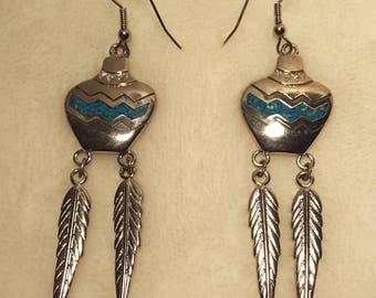 Modern Native American Dangle Earring