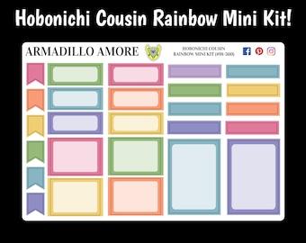 360 | Hobonichi Cousin Rainbow Mini Kit {26 Fancy Matte or Glossy Planner Stickers}