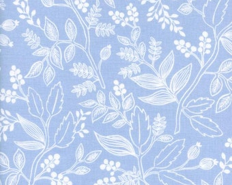 Les Fleurs Queen Anne Pale Blue by Ana Bond Rifle Paper for Cotton + Steel