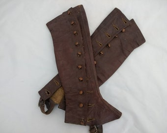 Victorian Ladies Leather Spats