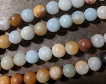 6mm Assorted Amazonite Beads