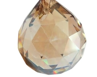 30mm Champagne Faceted Ball Chandelier Crystal Prisms