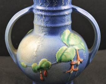 Roseville, Fuschia, Blue Vase No. 891-6  (as is)
