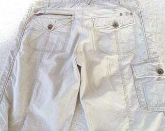 Vintage Dalia Collection tan/beige lightweight size 6 32 x 31 slacks   #30