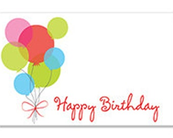 Happy Birthday Cards Enclosure Cards Balloon Happy Birthday Gift Card Balloon Note Card Happy B-day Gift Wrapping Paper Paper Party Supplies